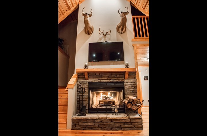 Fireplace with HDTV