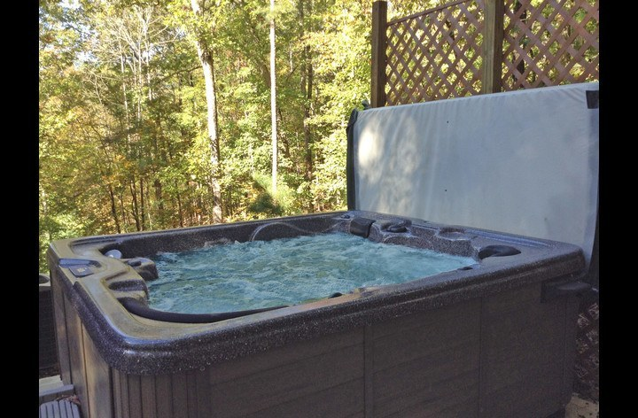 Private Hot Tub right outside your door